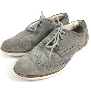 LUNARGRAND COLE HAAN Suede Leather Grey Lace 6